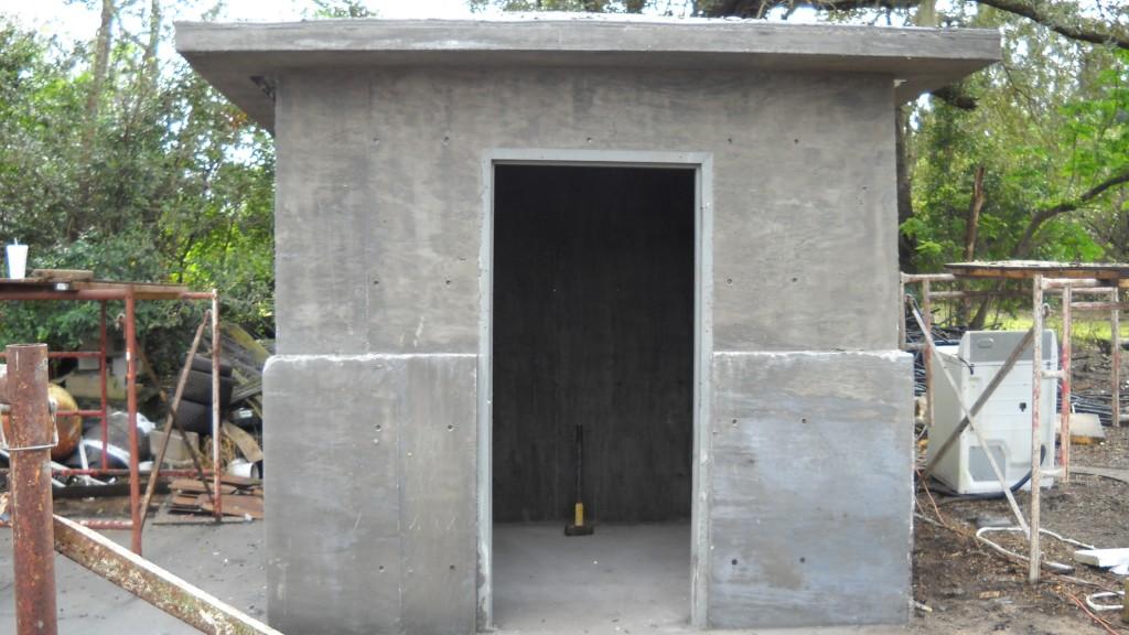 One pour concrete structure.