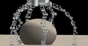 CAD model of the Prospector/Kraken Asteroid Boulder Retrieval System for our ARM BAA interim report