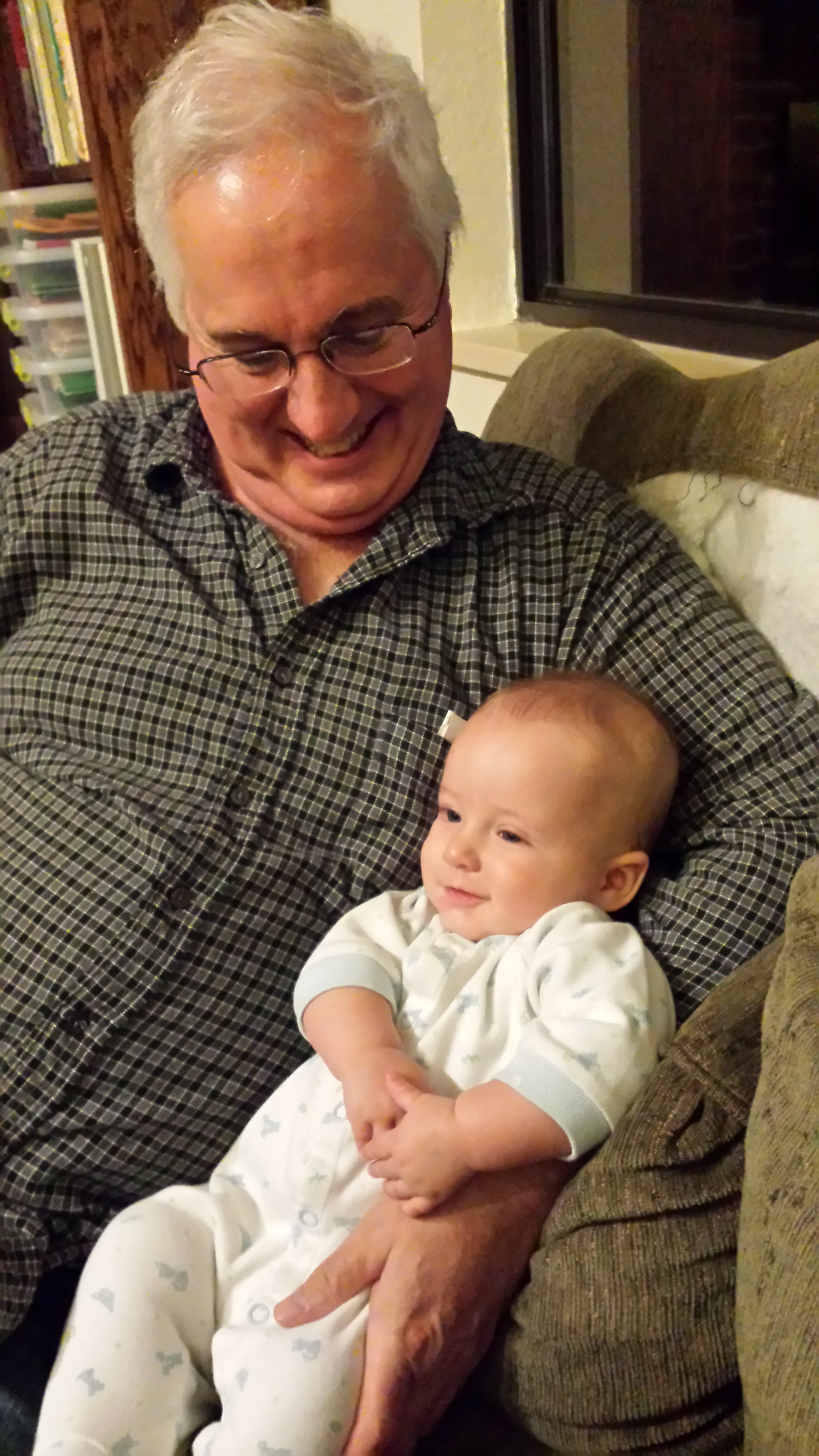 Pip and Grandpa Goff, Oct 2014.