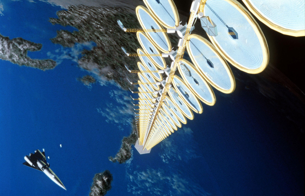 NASA Suntower Space-based solar tower concept